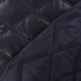 Tissu doublure matelassé recto / verso marine x 10cm