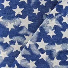 ♥ Only one piece 70 cm X 135 cm ♥ Stars Jeans Fabric - Blue