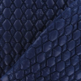 Embossed Hexagon Quilted Lining Fabric - Navy x 10cm