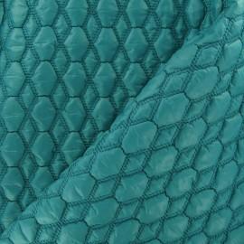 Tissu doublure matelassé gaufré hexagone marine x 10cm