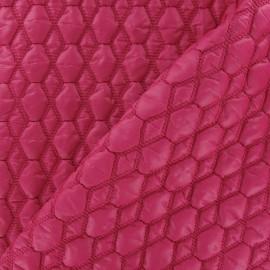 ♥ Coupon tissu 15 cm X 130 cm ♥ Tissu matelassé gaufré hexagone Fuchsia