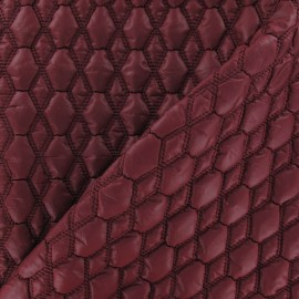 Tissu doublure matelassé gaufré hexagone Rouge x 10cm