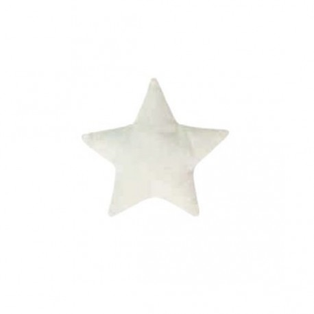 "Fabric-made star to customize ""Patchwork Family"" - white"