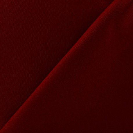 Mat Lycra Gabardine Fabric - Dark Red x 10cm