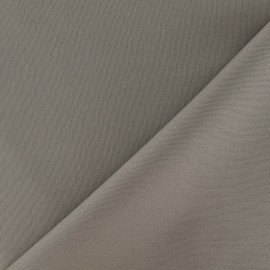 Mat Lycra Gabardine Fabric - Taupe x 10cm