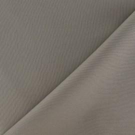 Tissu Gabardine Lycra mat Taupe x 10cm