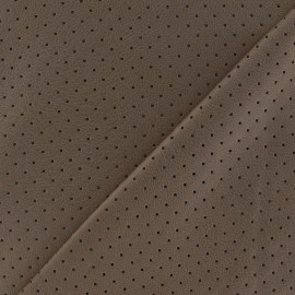 ♥ Coupon 240 cm X 150 cm ♥ Clara punched flexible imitation leather - brown