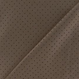 Tissu enduit souple micro perforé brun x 10cm