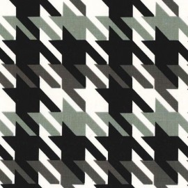 Tissu Big time Houndstooth taup x 10cm
