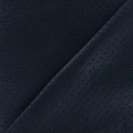 Tissu enduit souple micro perforé marine x 10cm