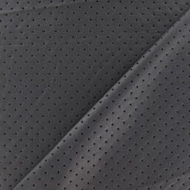 Tissu enduit souple micro perforé Gris x 10cm