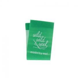 "Label ""Wild wild wool"" to fold - green"