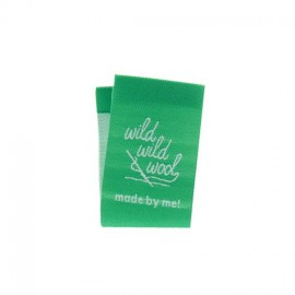 "Label ""Wild wild wool"" to fold - green"