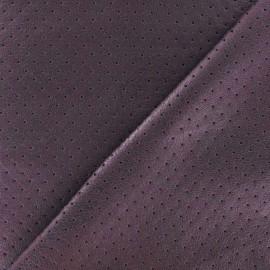 ♥ Coupon tissu 145 cm X 140 cm ♥ Simili cuir souple perforé Clara Parme