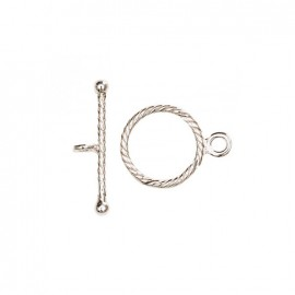 Toggle clasp connector 20mm - silver 925