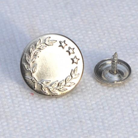 Denim snap button - silver