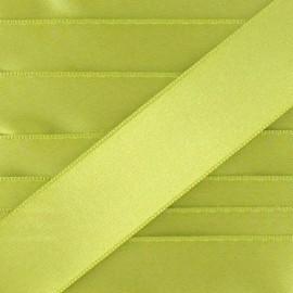 Ruban satin vert moutarde
