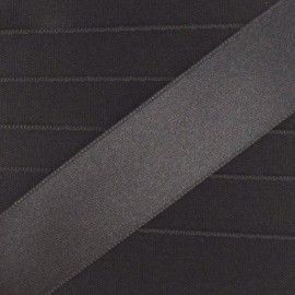Luxery Satin Ribbon, double-sided - anthracite grey