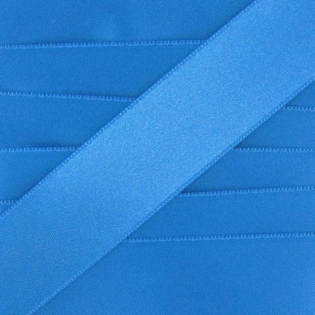 Ruban satin bleu acier