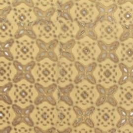 Cuir ajouré motif floral (2 tailles)