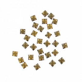 Sew-on square-shaped rhinestones x 30 - antique bronze