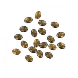 Sew-on oval-shaped rhinestones x 20 - antique bronze