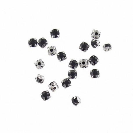 Round-shaped put-up stones x 20 - black
