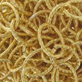 Chaine à maillons striés 19 mm métal doré