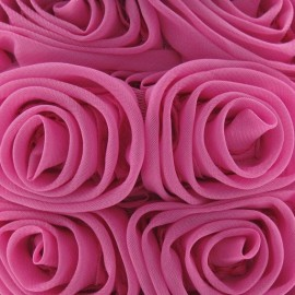 Galon rose sur tulle fuchsia x 50 cm