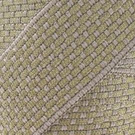 Galon fantaisie 50 mm or et gris clair x 50cm