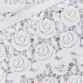 Guipure Fleurs Rosa 60 mm Blanc x 50cm