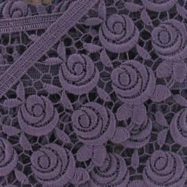 Guipure Fleurs Rosa 60 mm Parme x 50cm