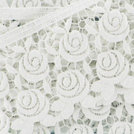 Guipure Fleurs Rosa 60 mm Écru x 50cm