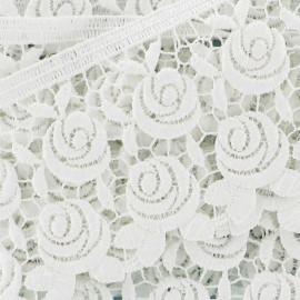 Guipure lace, Flowers Rosa 60mm x 50cm - ecru