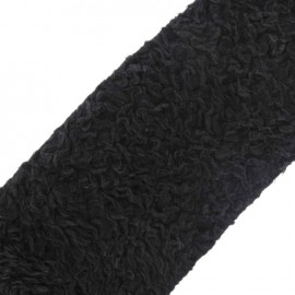 Astrakan Fur ribbon 10 cm x 50 cm - black