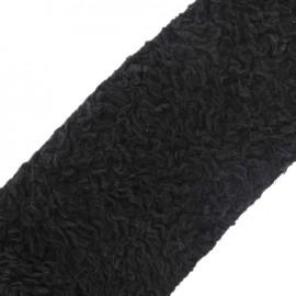 Ruban Fourrure Astrakan 100mm noir x 50cm