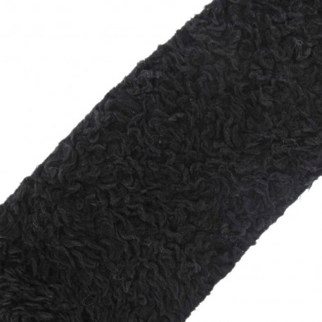 Astrakan Fur ribbon 10 cm x 50 cm - black