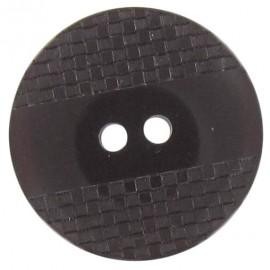 Bouton polyester quadrillé à reflets marron