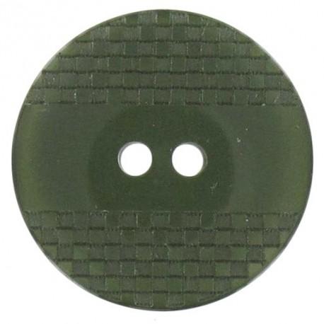Bouton polyester quadrillé à reflets mousse