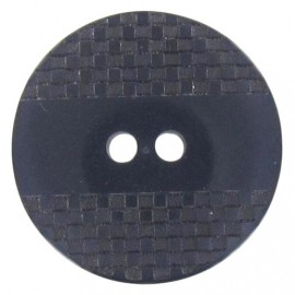 Polyester button, square-patterned with reflection - midnight blue