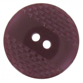 Polyester button, square-patterned with reflection - garnet red