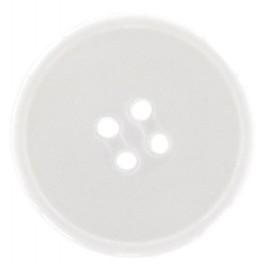 Bouton polyester de travail blanc
