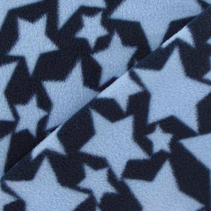 Tissu Polaire Etoile Bleu Ciel Fond Marine X 10cm Ma Petite Mercerie