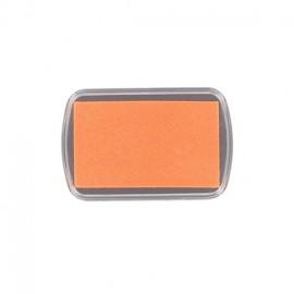 Tampon encreur textile orange fluo