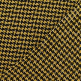 Tissu lainage pied de poule Framboise et Noir petit x 10cm
