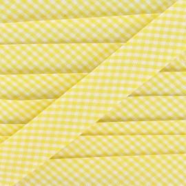 Biais Petit Vichy jaune 20 mm