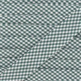 Biais Petit Vichy vert 20 mm