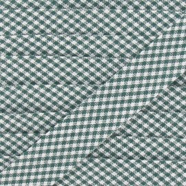 Bias binding, little gingham 20 mm - green