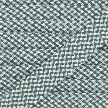 Bias binding, little gingham 20 mm - green