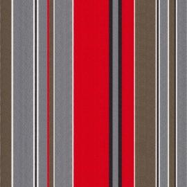 Tissu toile transat Petitus rouge/gris (43cm) x 10cm